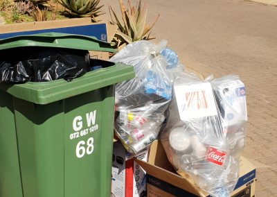 Waste and Recyclables ready for collection